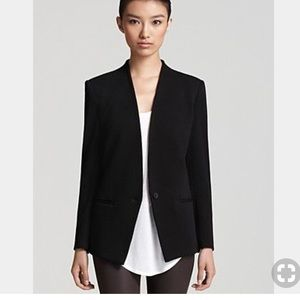 Helmut Lang perfect collarless blazer black size 8
